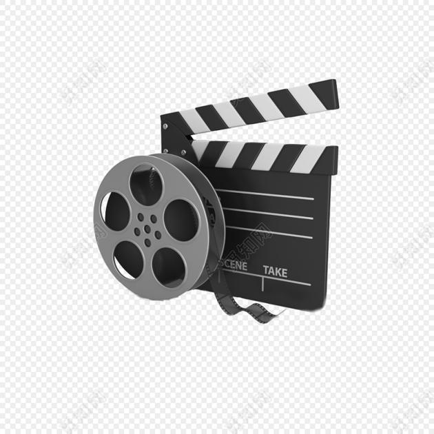高大上电影摄影拍照胶卷放映机卡板素材