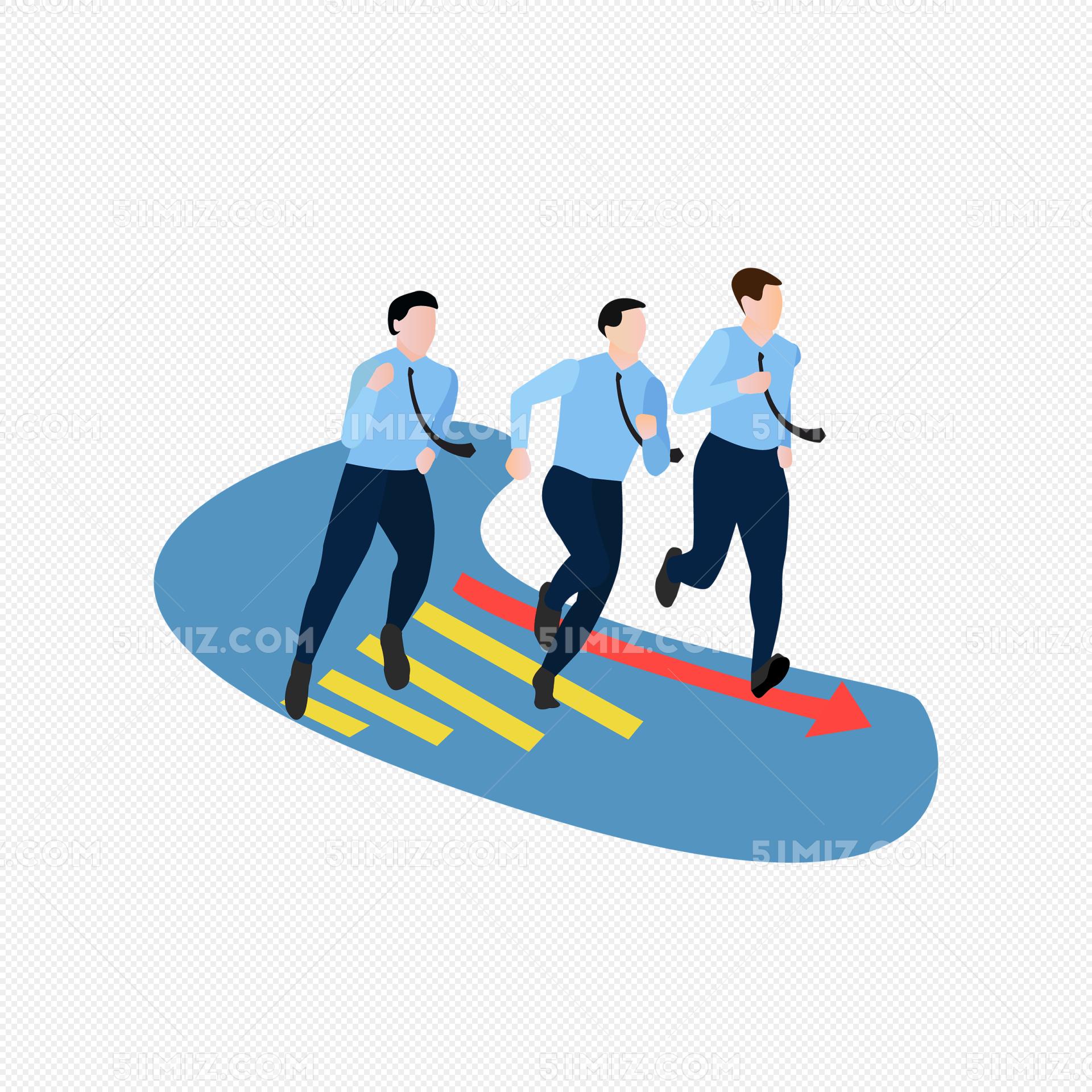 商务团队奋斗拼搏矢量素材