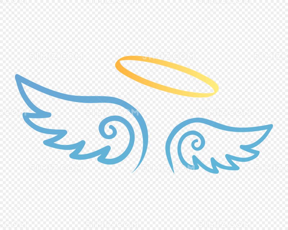 卡通手绘天使翅膀