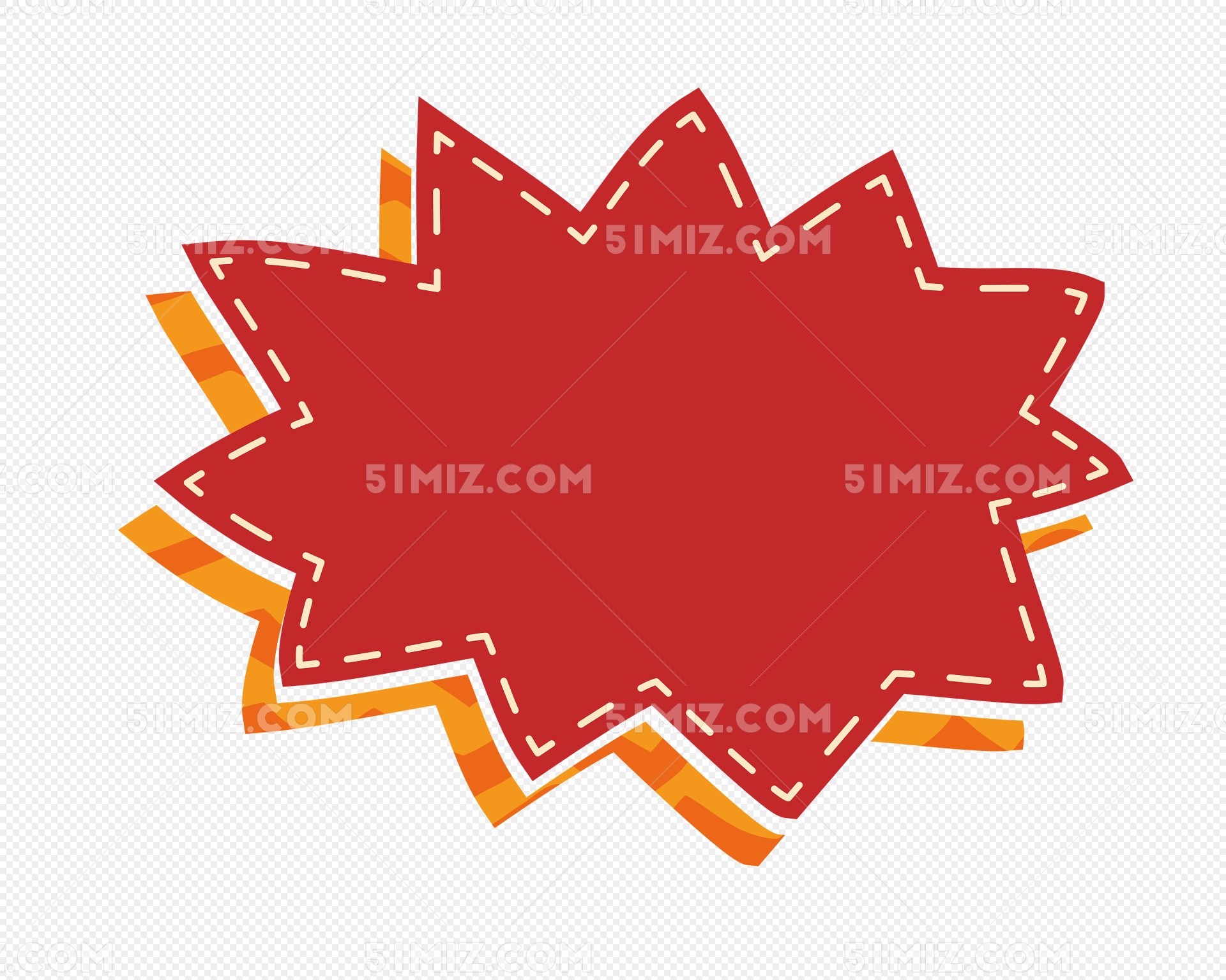 锯齿红色爆炸贴图片素材免费下载_觅知网