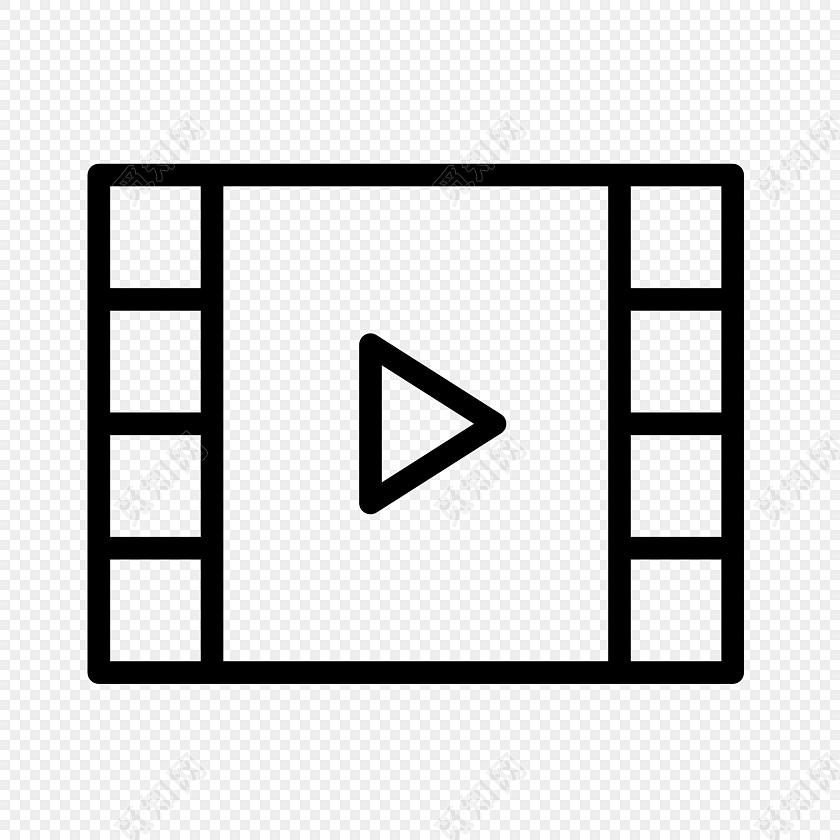 视频播放按钮素材图片