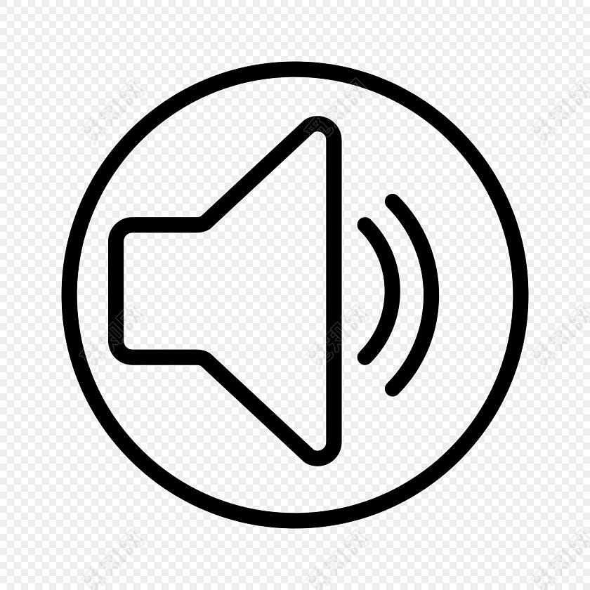 手绘声音喇叭图标素材