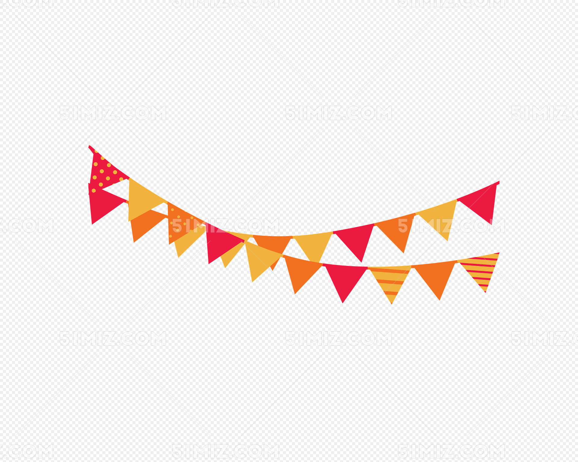 愚人节 庆祝红色卡通彩旗矢量图