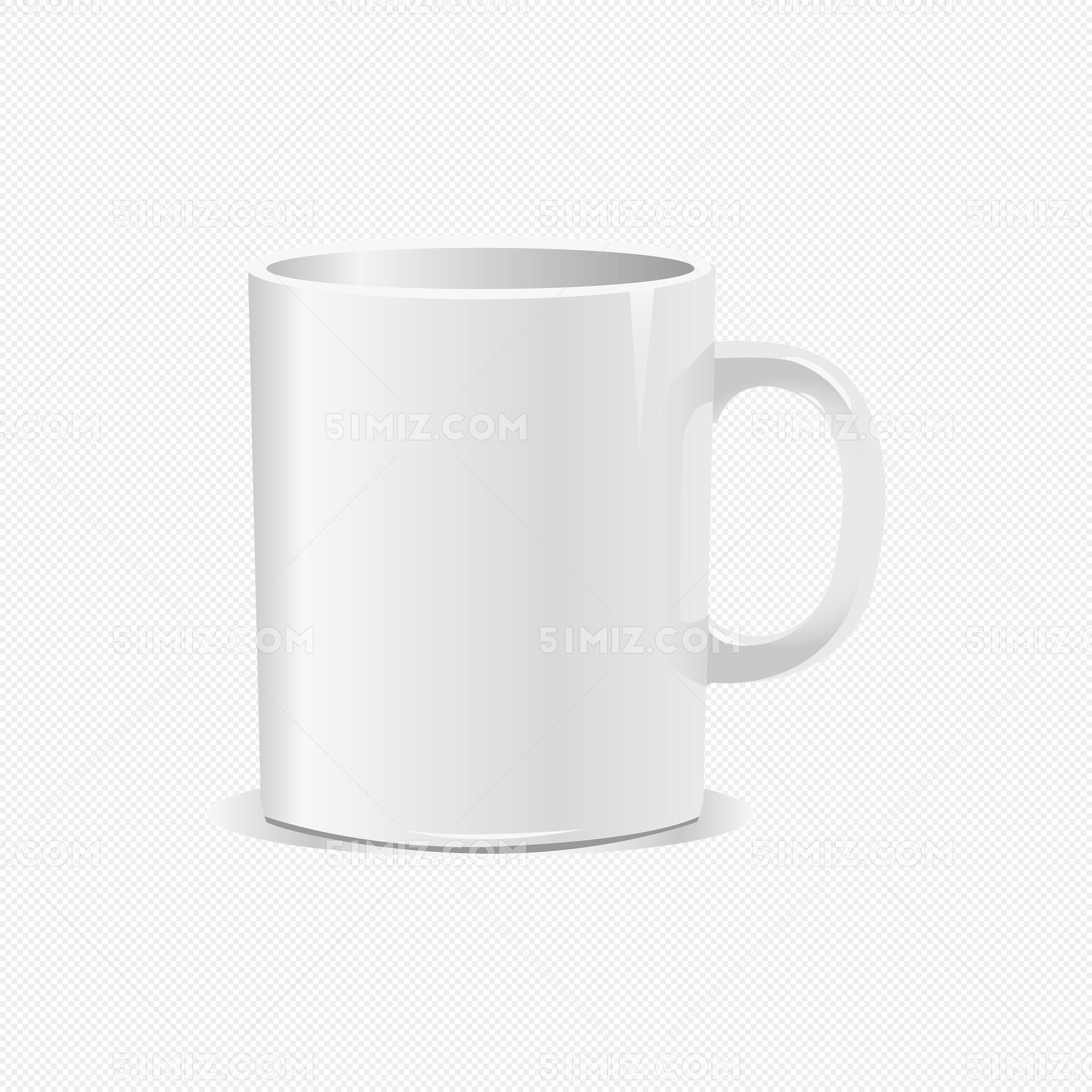 白色马克杯杯子矢量素材图片