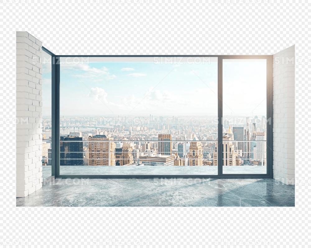 大楼落地窗高清免扣素材