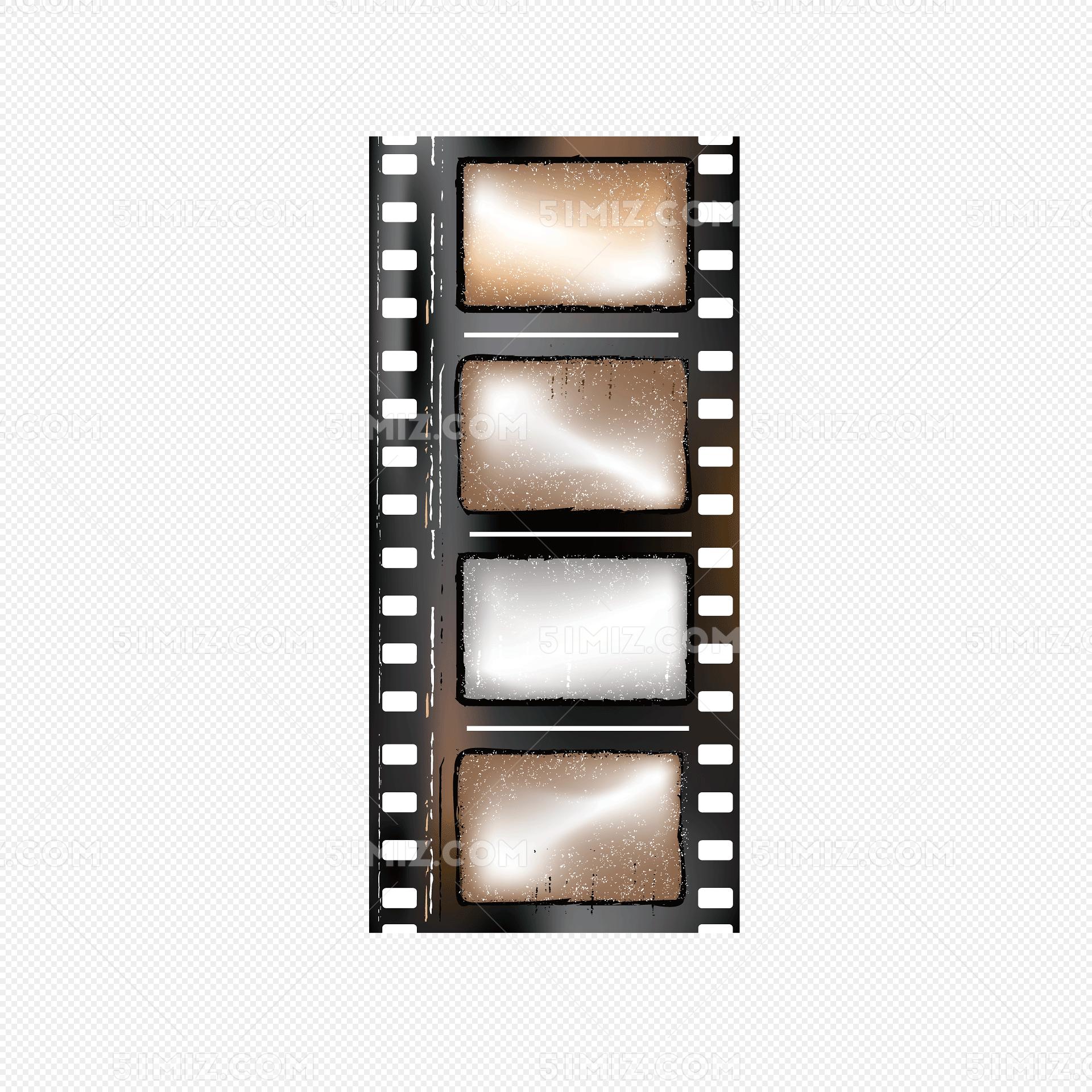 矢量棕色老胶片电影交卷边框