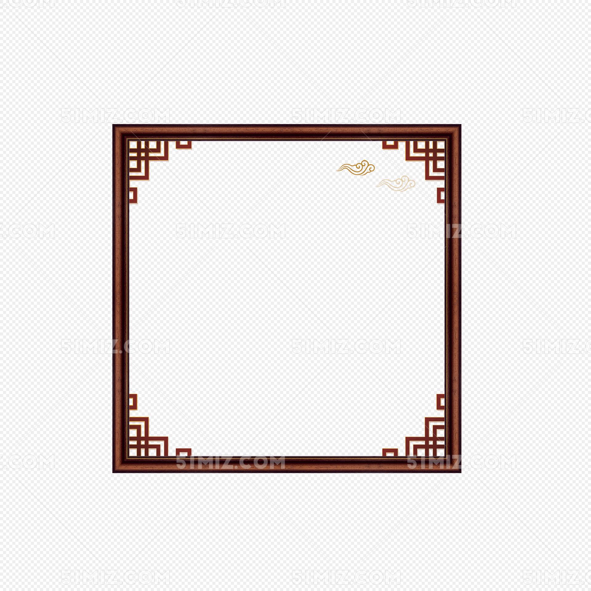中国风中式花纹边框标题框