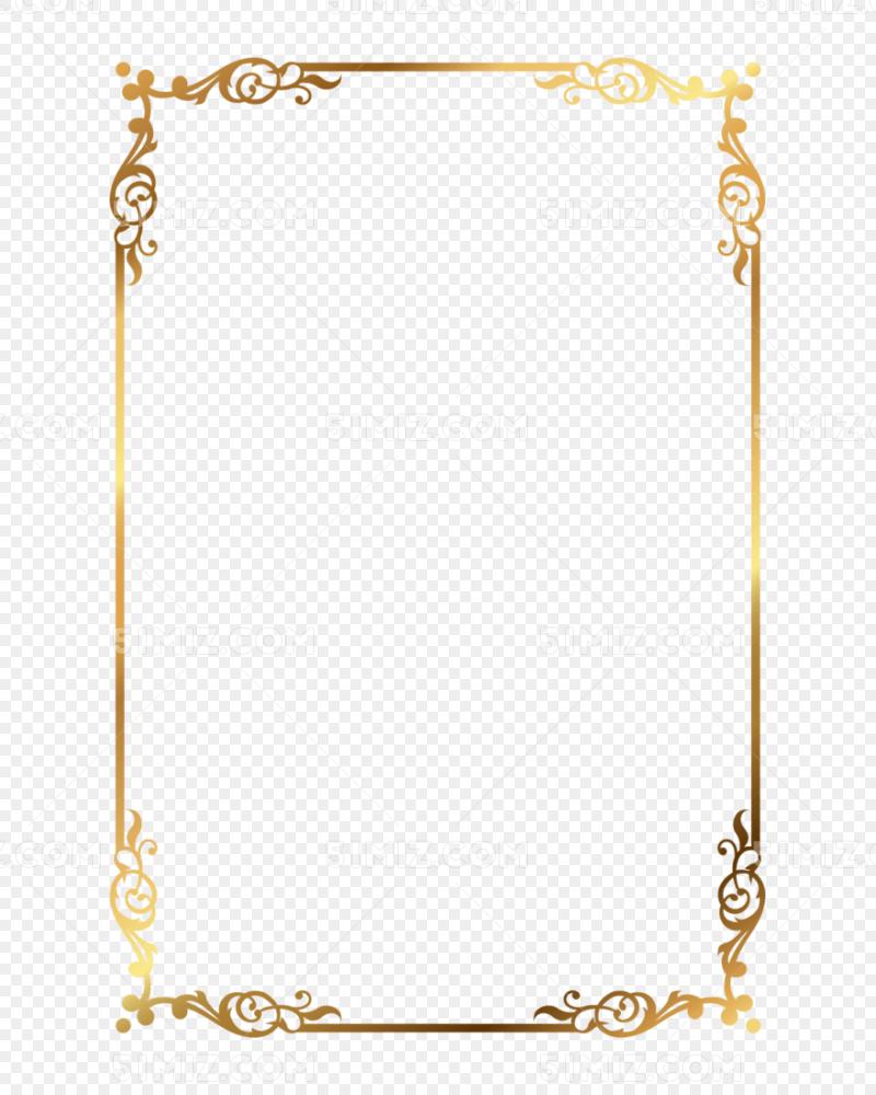 金色文字框花纹边框