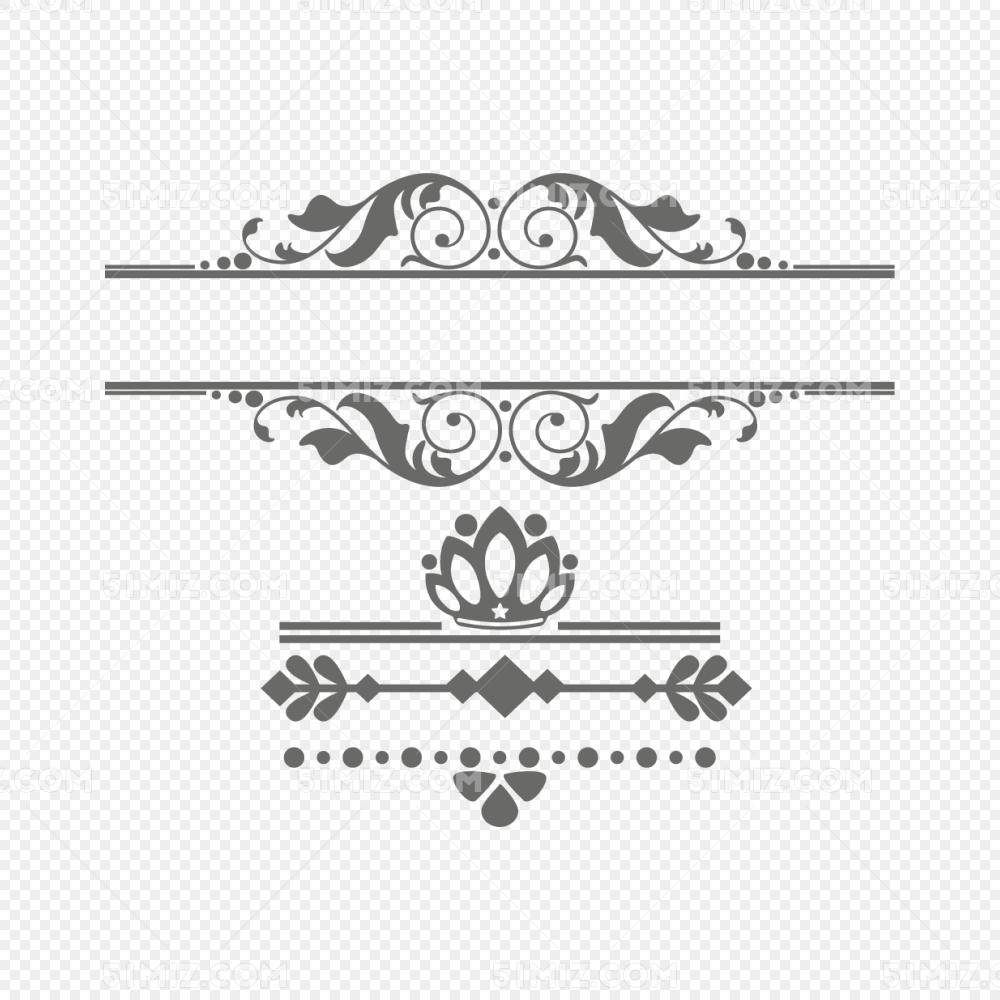欧式复古花边文字框花纹边框