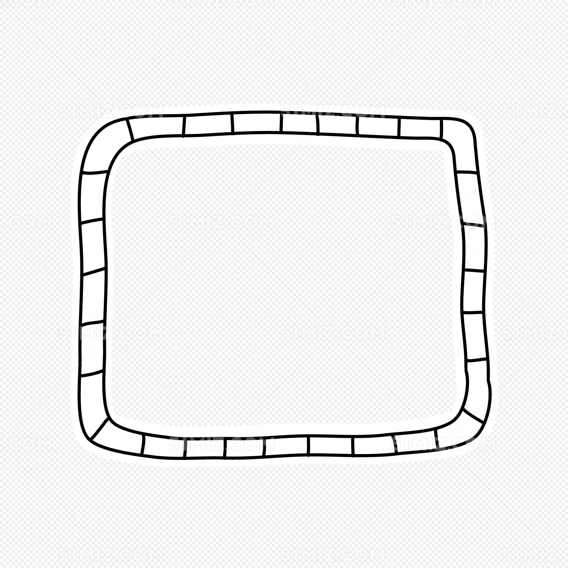 手绘相框素材 卡通手绘线条方框