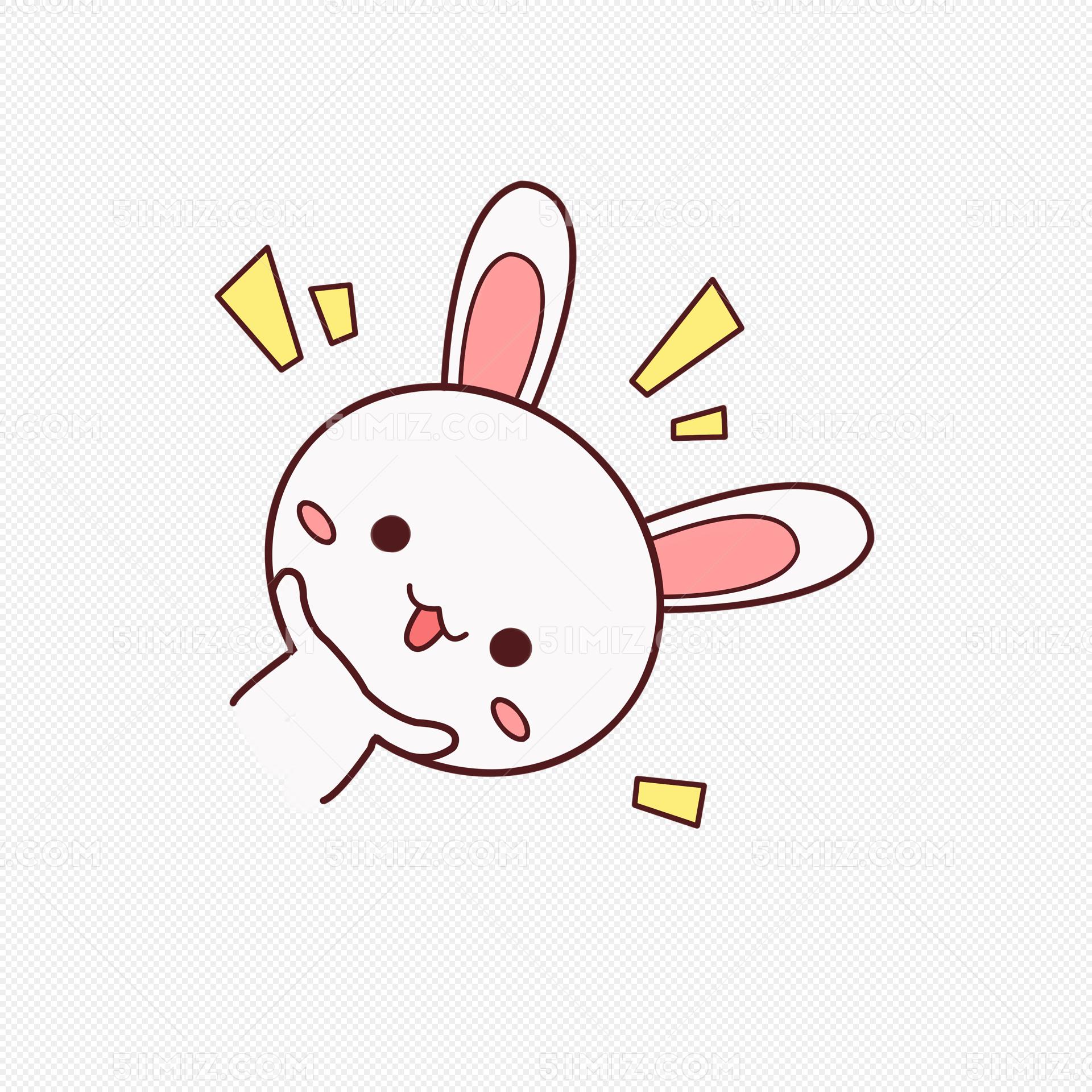 小清新动物手绘可爱兔子