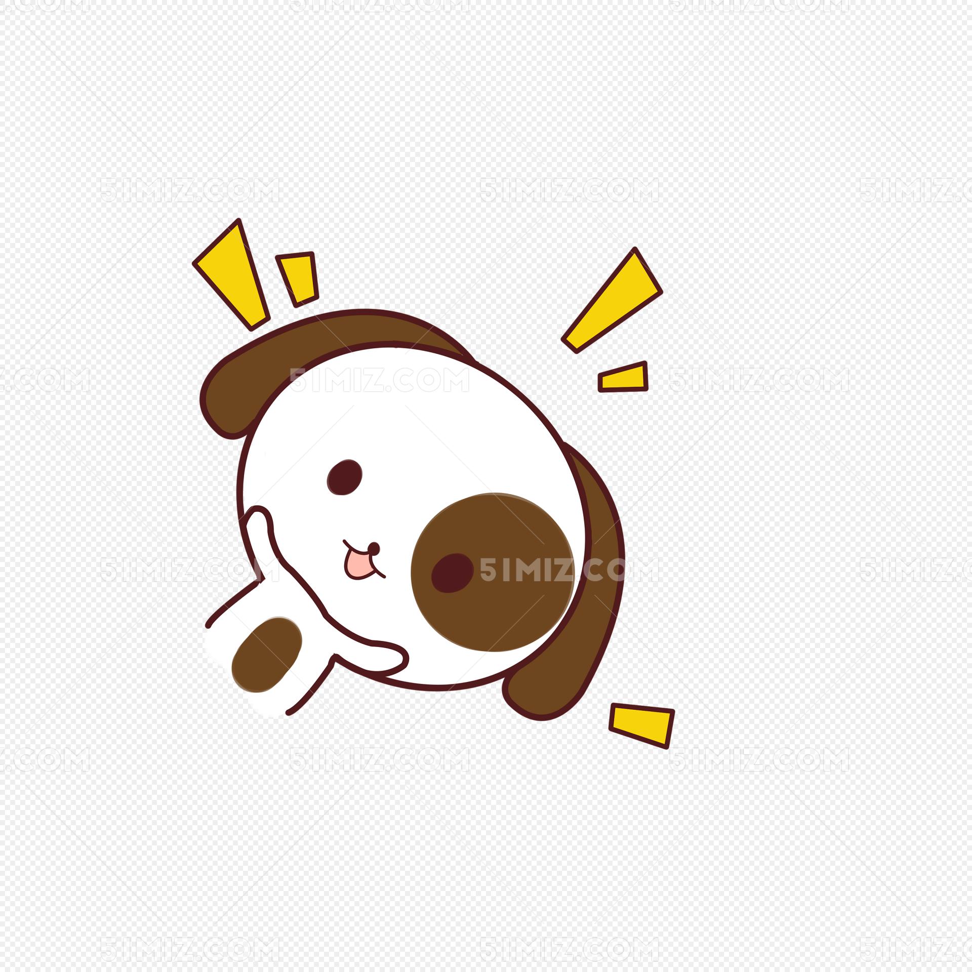 小清新动物手绘可爱狗狗