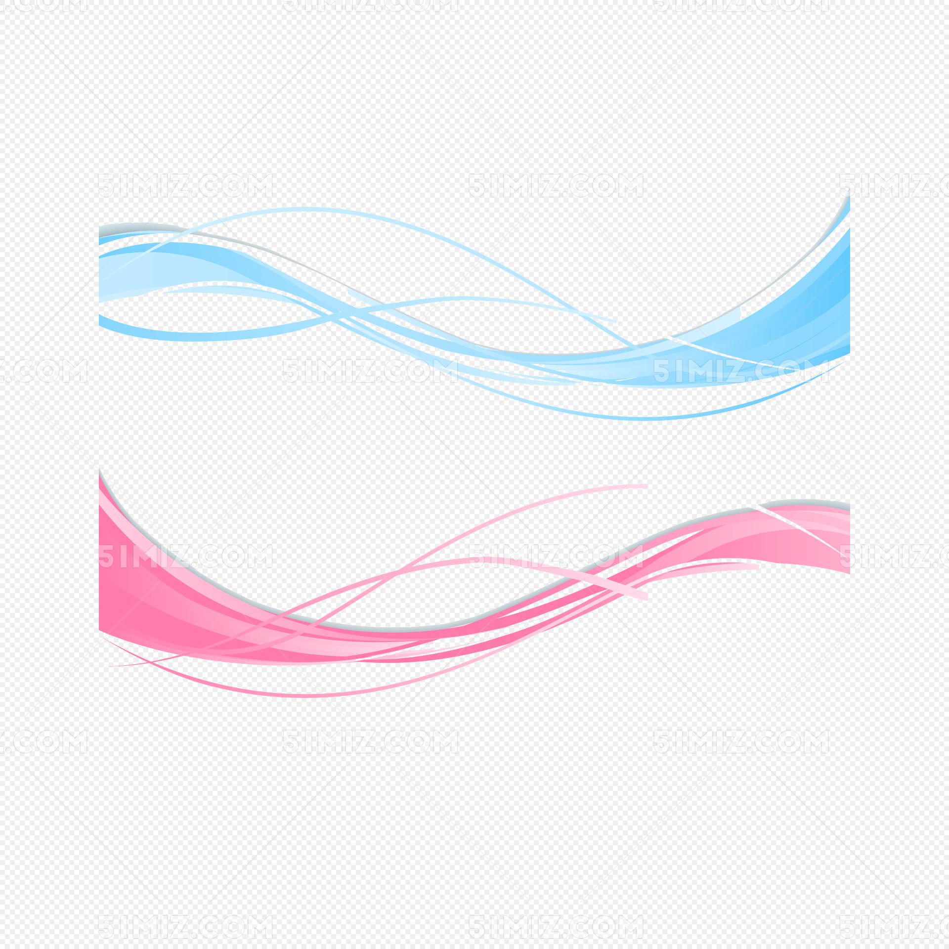 彩色波浪线设计矢量图图片