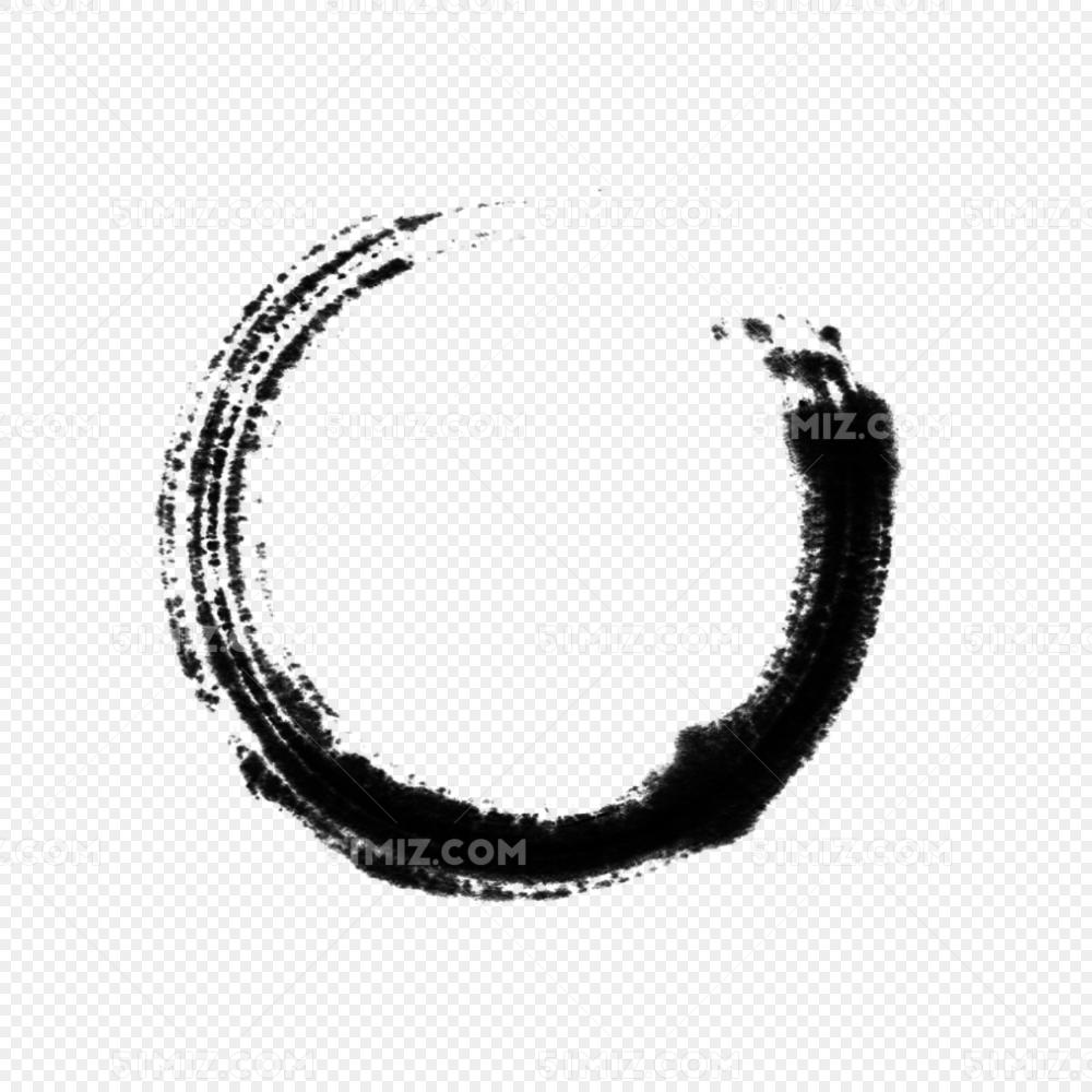 水墨泼墨毛笔圈图片素材免费下载_觅知网