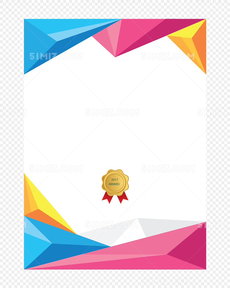 彩色几何边框纹理素材