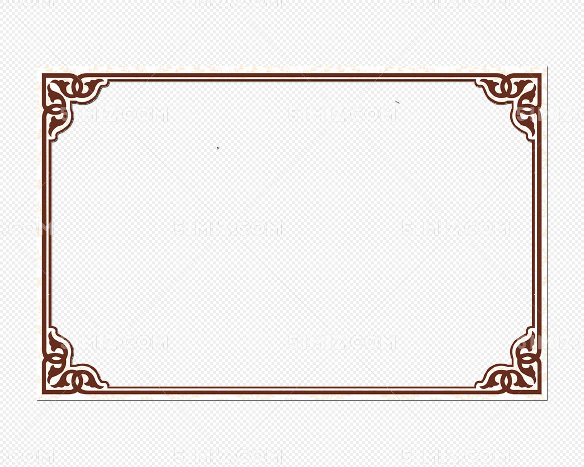 花纹边框复古边框相框花边纹理素材