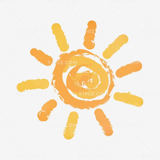 卡通太阳儿童画太阳手绘太阳