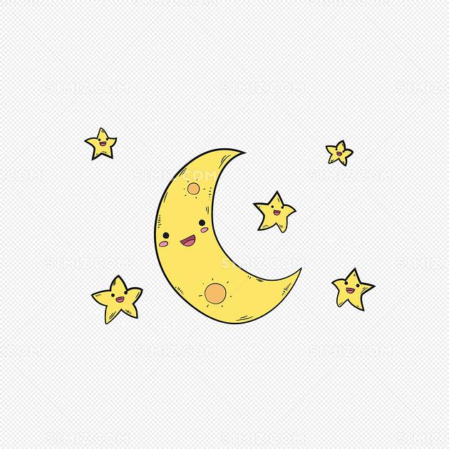 卡通太阳卡通星星卡通月亮可爱太阳可爱星星图片