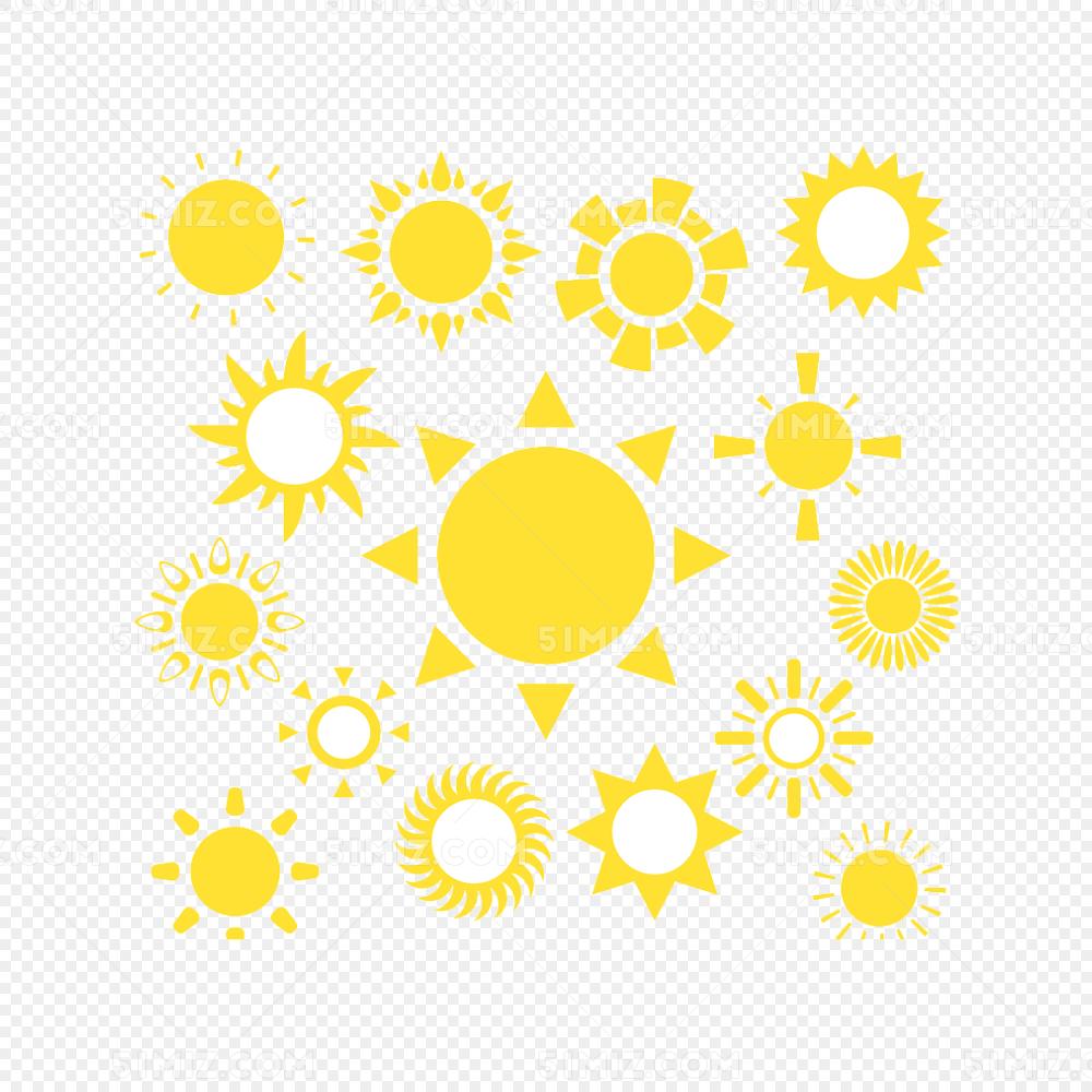 太阳矢量图素材太阳矢量图黄色图标