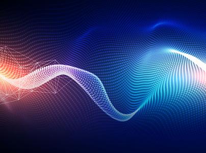 创意抽象科技商务波浪曲线海报背景图片