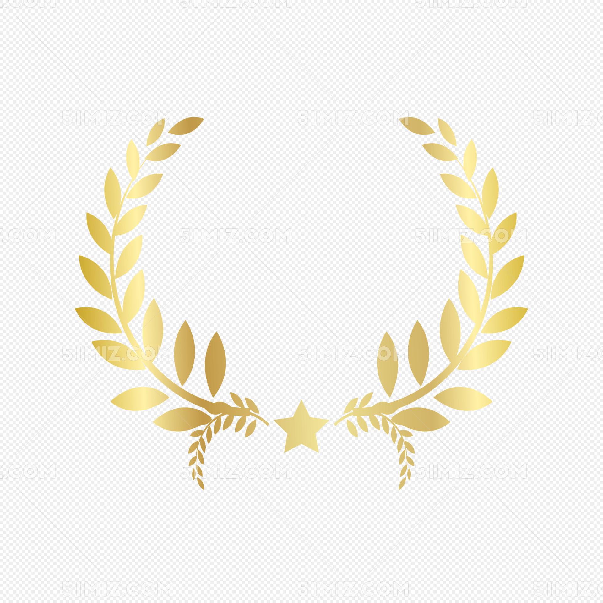 金色渐变麦穗装饰