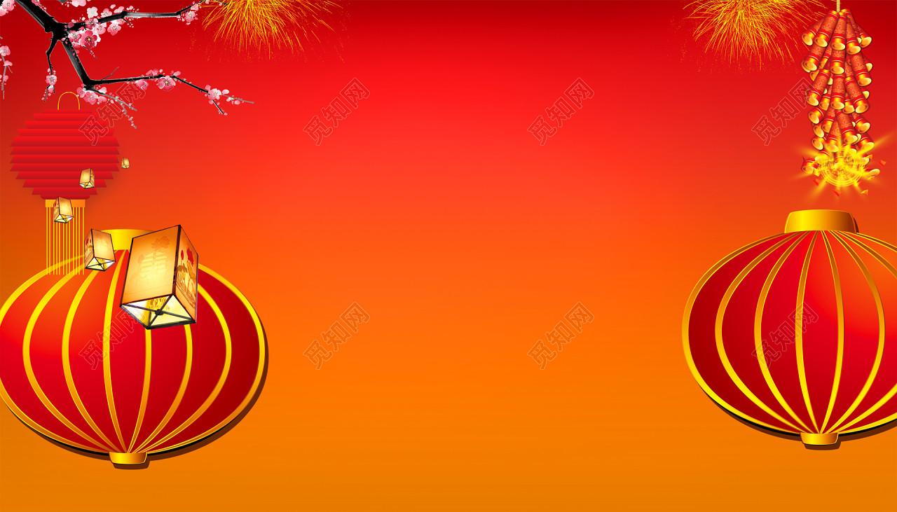 2019年紅色喜慶豬年春節元旦海報背景圖免費下載 背景素材 覓知網