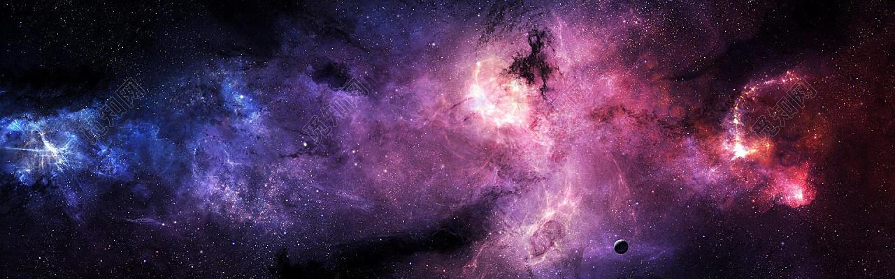唯美浪漫星空背景图片素材渐变
