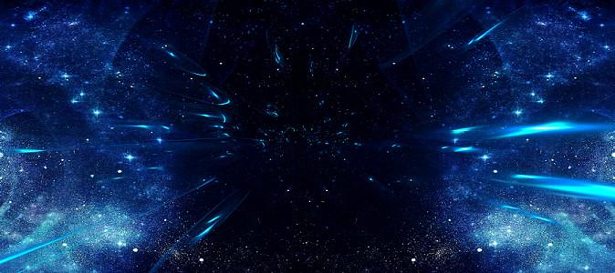 藍色科技星空星球高清海報banner背景圖