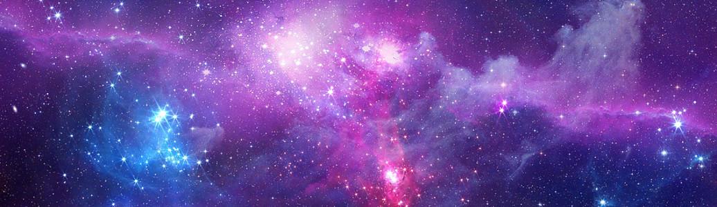 唯美彩色星空背景銀河太空宇宙極光背景海報設計漸變