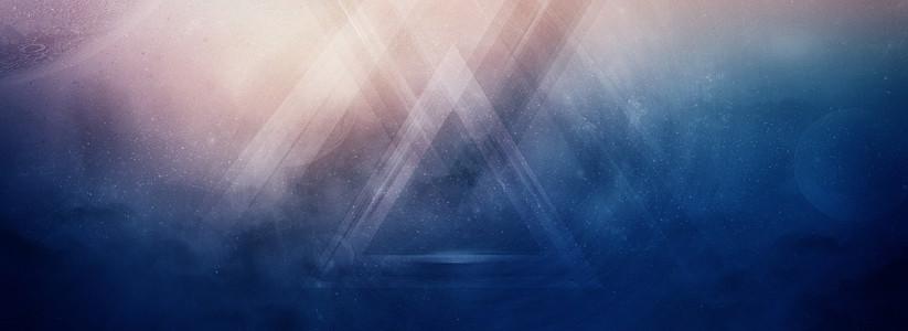 藍色科技唯美夢幻地球星空星球海報banner背景圖
