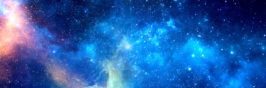 大氣藍色彩色星空科技商務數據城市海報背景風景