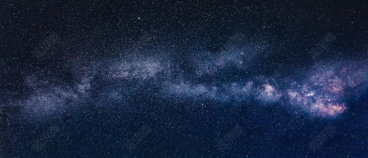 高清唯美星空银河太空宇宙极光背景图片