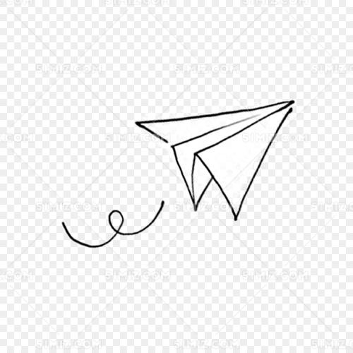 卡通手绘纸飞机