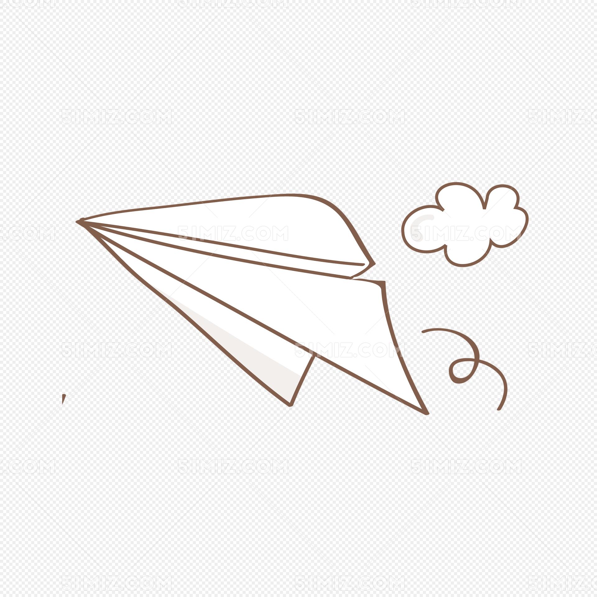 矢量手绘简笔纸飞机图片素材免费下载_觅知网
