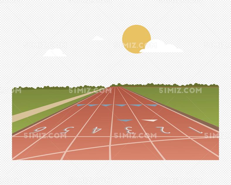 矢量塑胶跑道矢量塑胶跑道太阳白免费下载_png素材_觅
