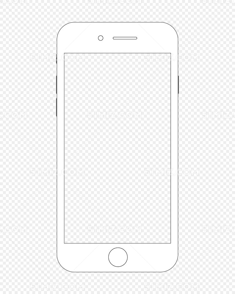 iphone手机苹果手机简单手绘线条手机dm图片素材免费