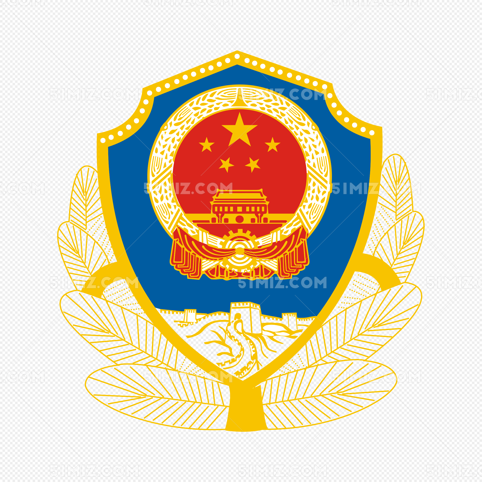 徽章警徽矢量图元素