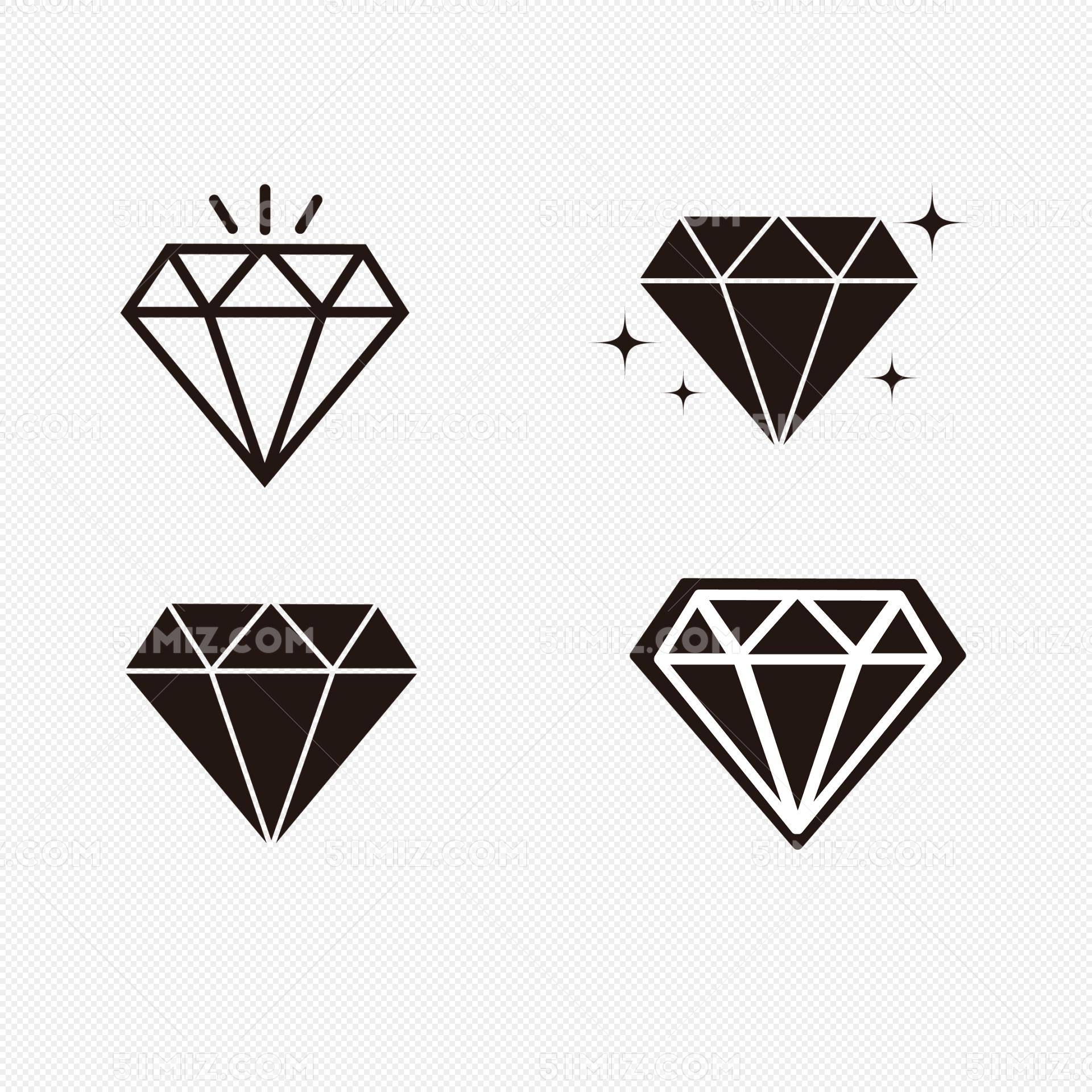 简单线条钻石矢量免费下载_png素材_觅知网