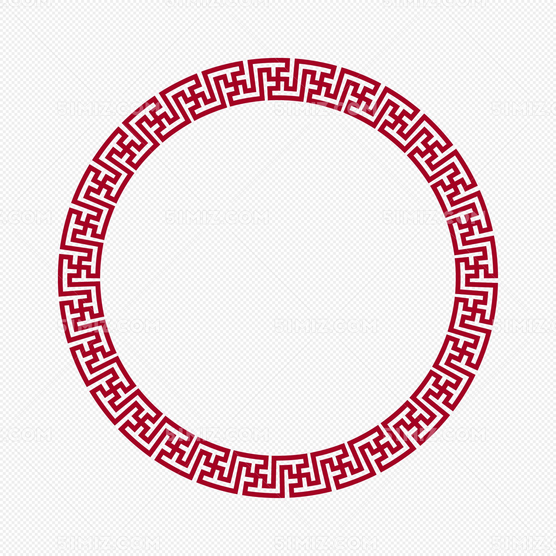 中国风圆形边框
