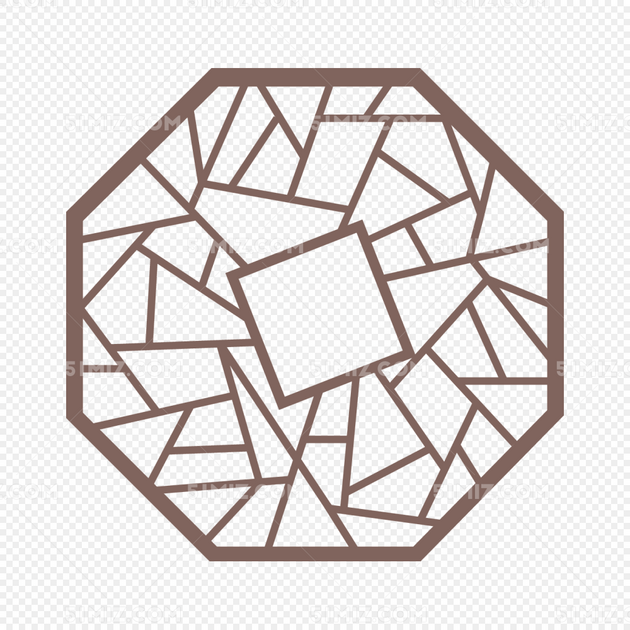 中式古窗矢量图中式素材