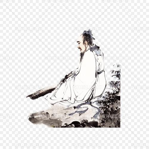 水墨风孔子古人图片素材免费下载_觅知网