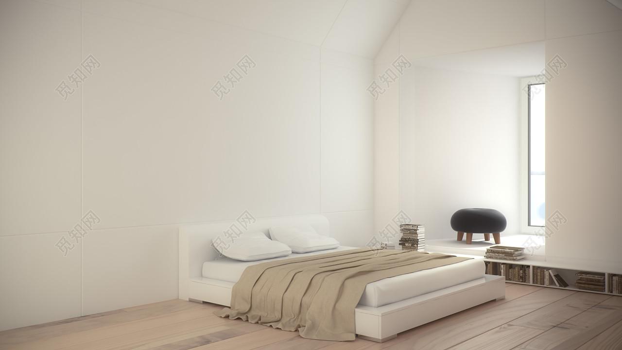 清新家居卧室背景素材木质