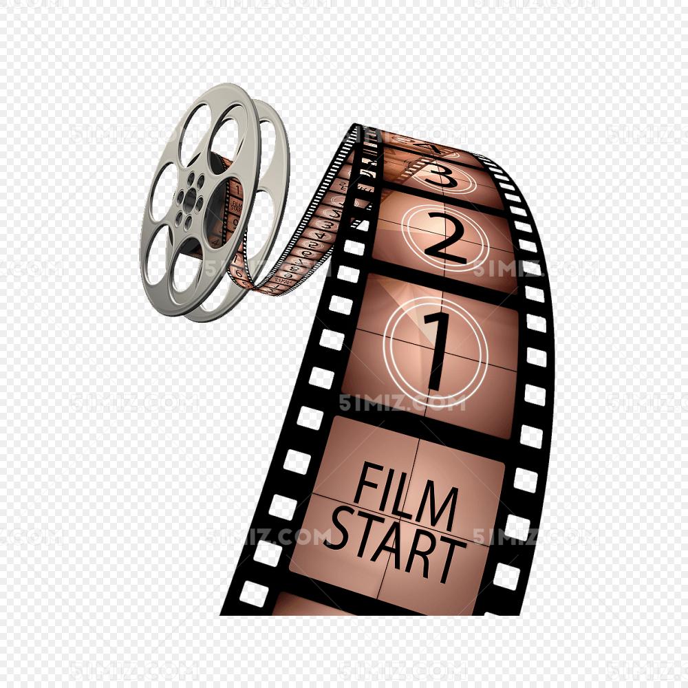 电影胶片卷轴图片素材免费下载_觅知网