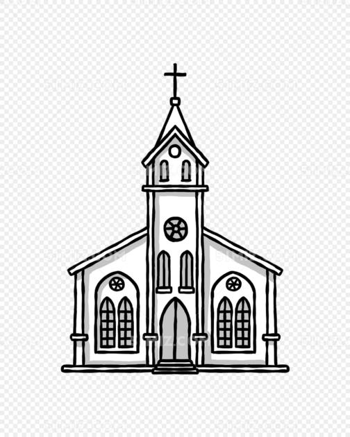 唯美教堂矢量图