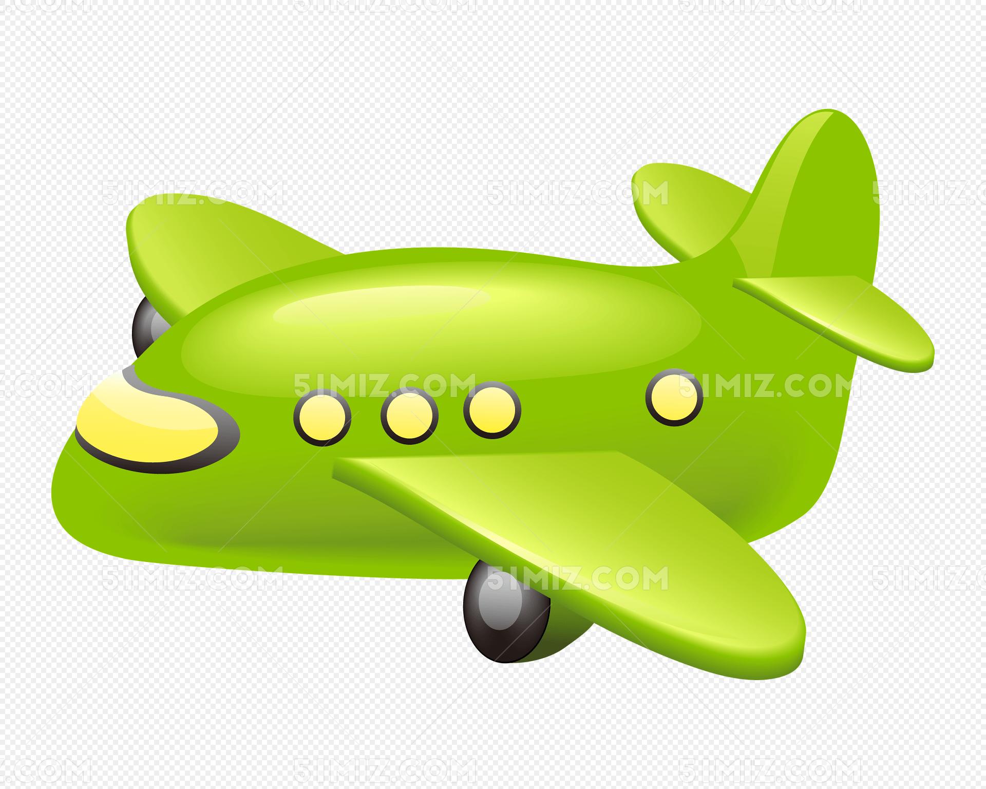 卡通汽车飞机交通工具矢量素材