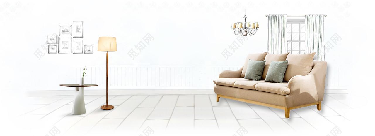 家居家裝家具桌子海報背景