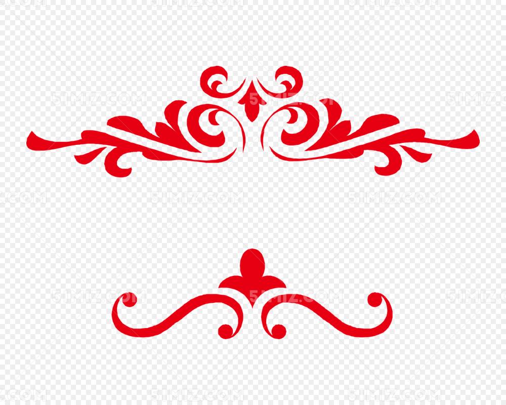 花纹纹理边框剪纸图片素材免费下载 觅知网