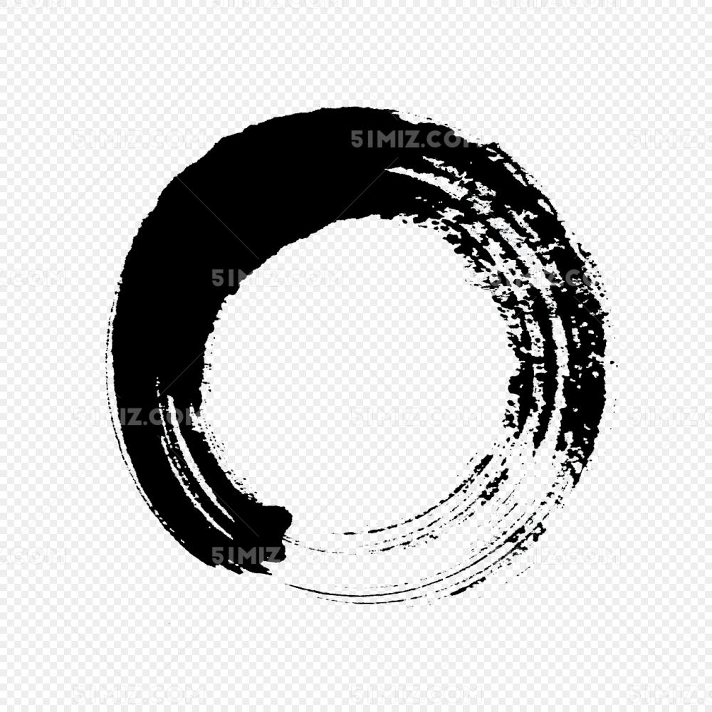 墨迹水墨圆圈中国风
