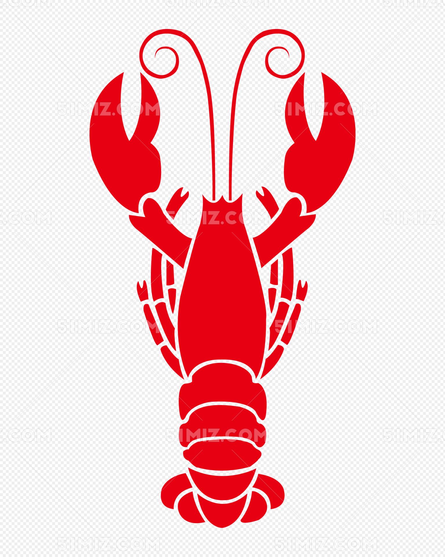 共享素材 免费下载png png素材 简笔画龙虾标签:龙虾 小龙虾 简笔画