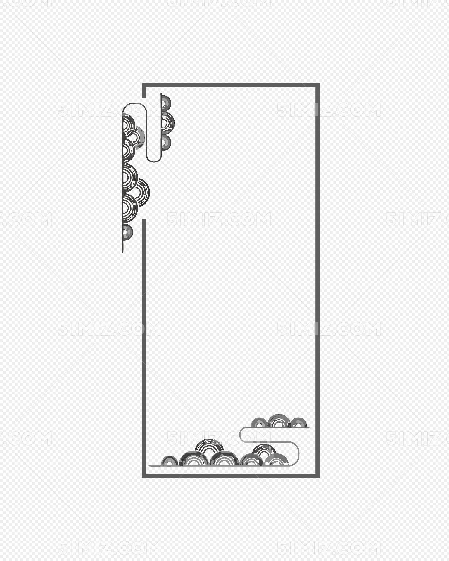 矢量中国风古典边框素材